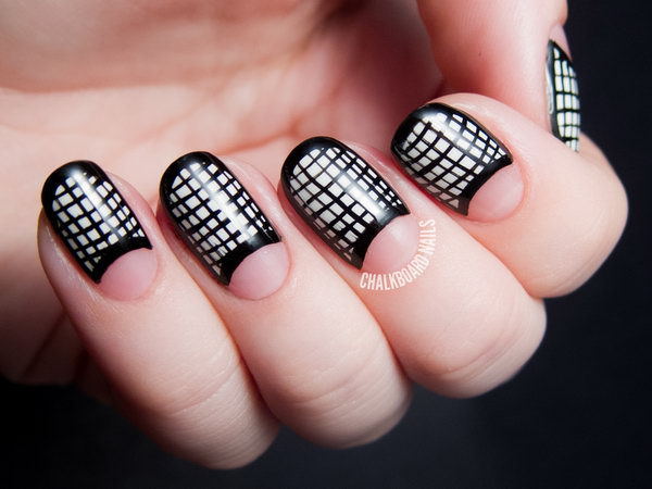 60 Stunning Half Moon Nail Art Designs Tutorials Noted List