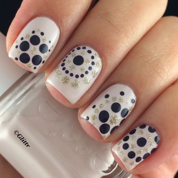 10 polka dots nail art designs