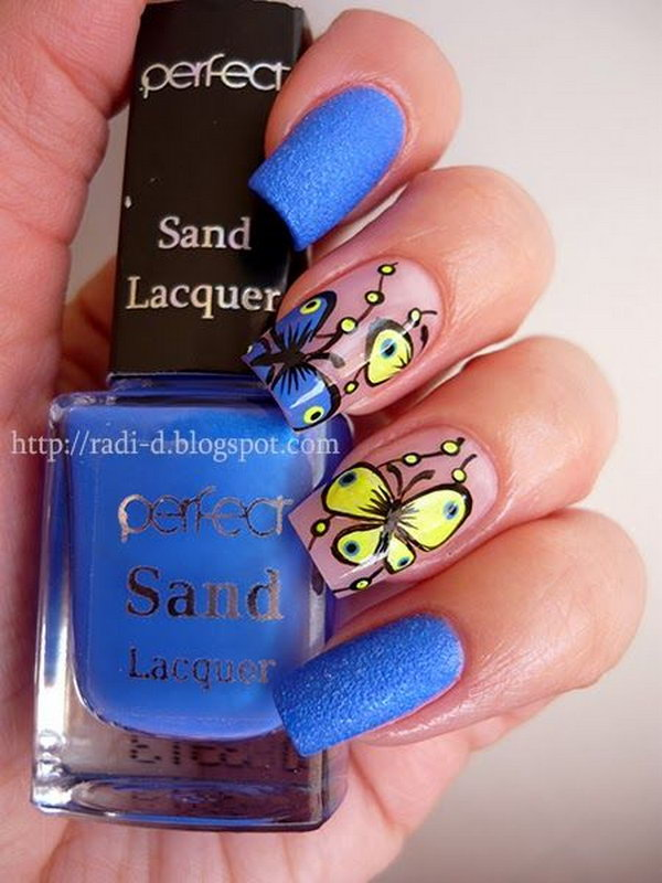 29 butterfly nail art designs