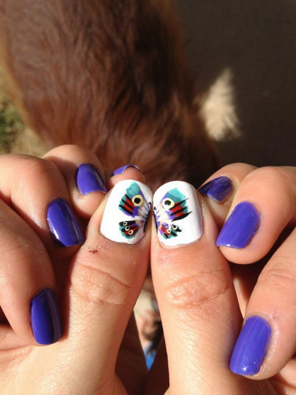 6 2 butterfly nail art designs
