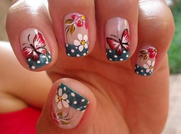 8 butterfly nail art designs