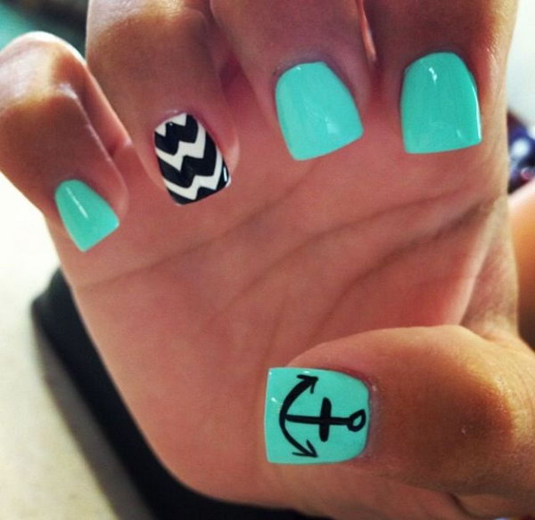 50 Cool Anchor Nail Art Designs Noted List
