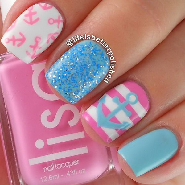 Anchor Nails in Candy Colors. See more details