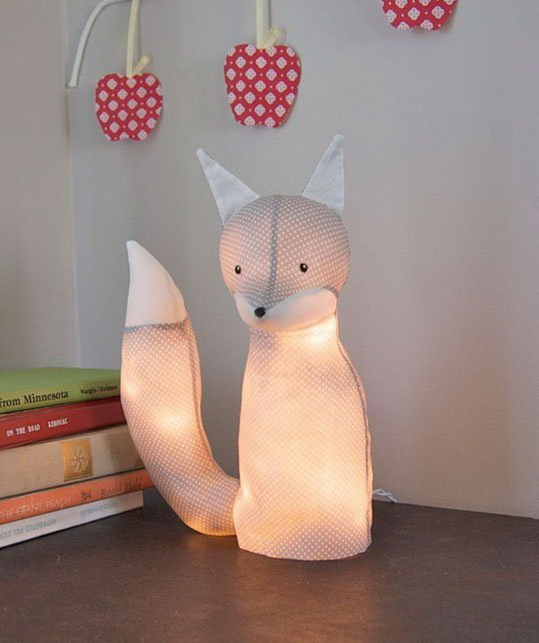 DIY Animal Lamps. Get more details
