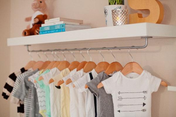 DIY Nursery Shelf for More Storage.
