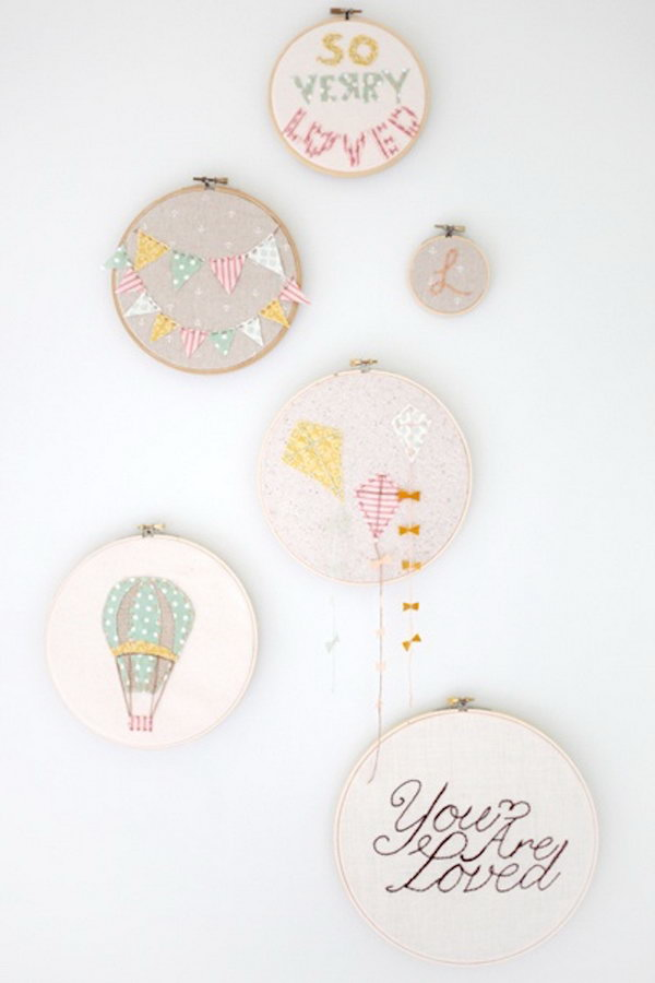 Silhouette Embroidery Hoop Art.