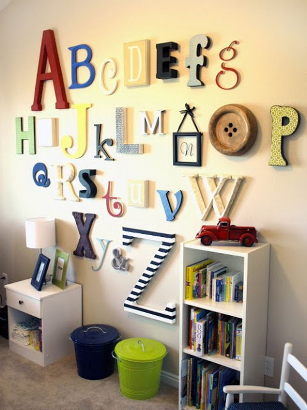 Alphabet Wall Art.