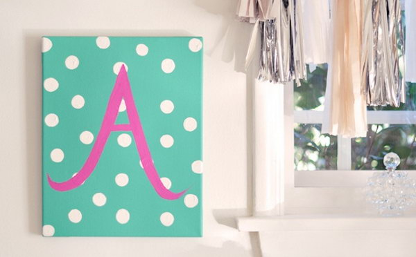 DIY Baby Monogram. See how