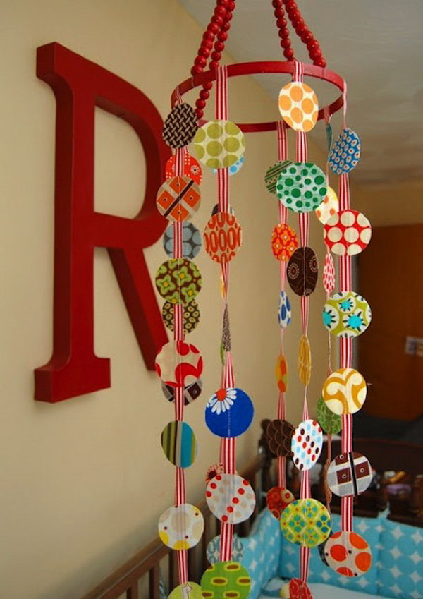 DIY Beaded Mobile.