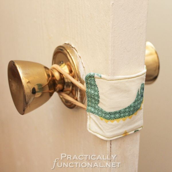 DIY Nursery Door Latch Cover. See the steps
