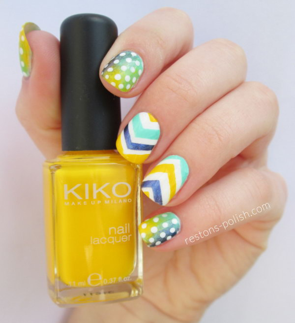 Polka Dots and Chevron Nails. Se more details