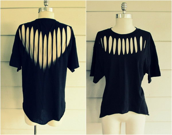 Front and Back Slashed T shirt. See the tutorial