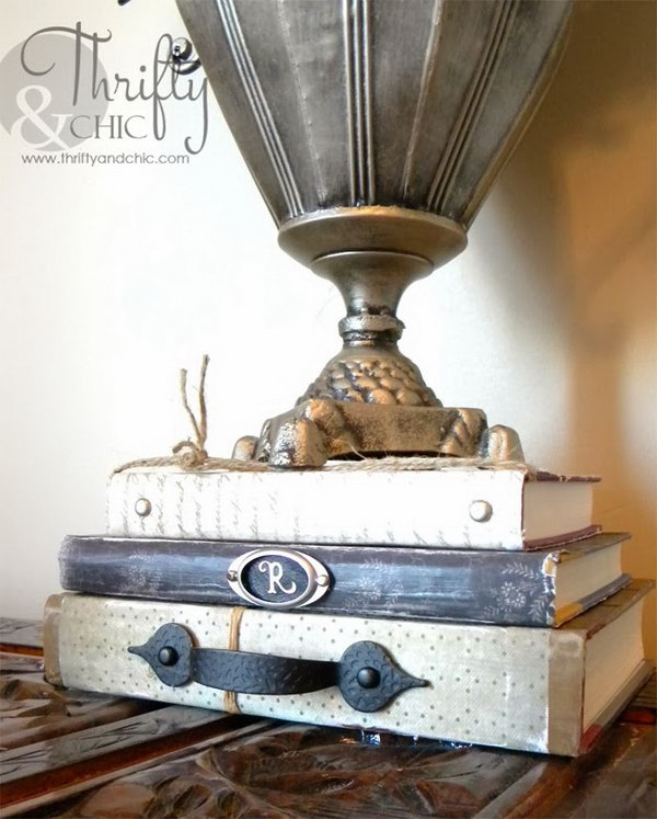Vintage Embellished Books. If you like the shabby chic style, this is a good choice for you. Get started with the tutorial