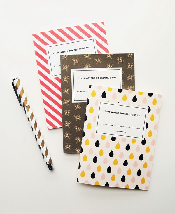 Free Printable Vintage Notebook. You can download these adorable and vintage covers and get more directions