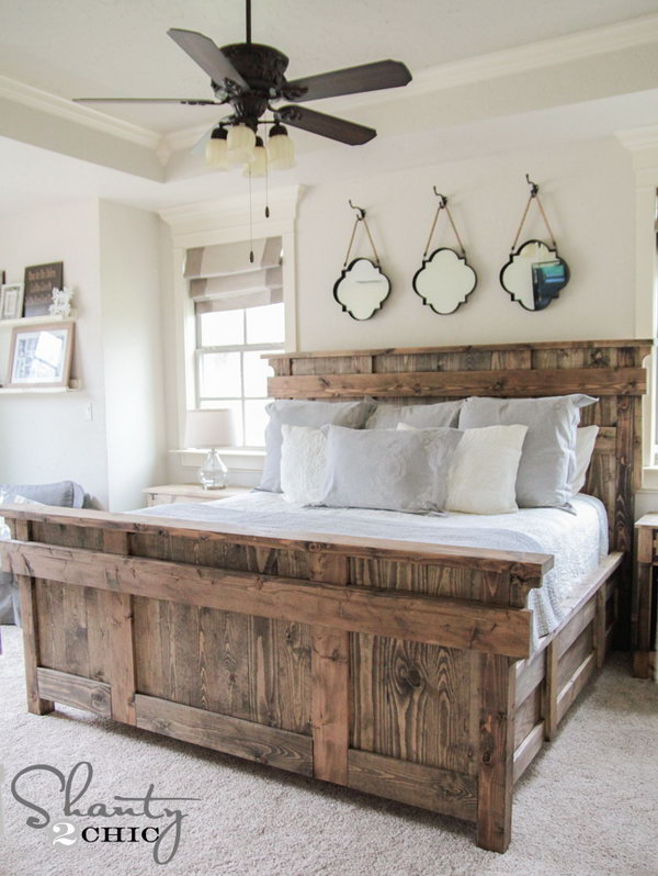 DIY Stately King Size Bed Frame. Get the tutorial