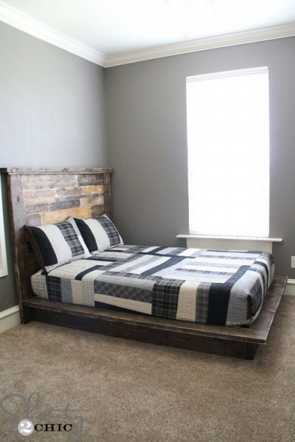 Bold and Chunky Platform Bed Frame. Check out the tutorial