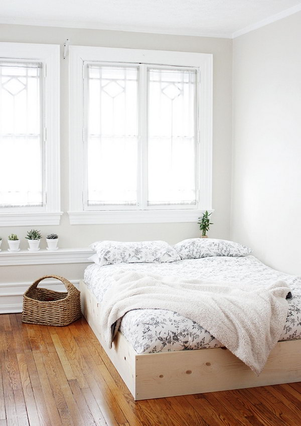 Simple and Inexpensive DIY Bed Frame. See how