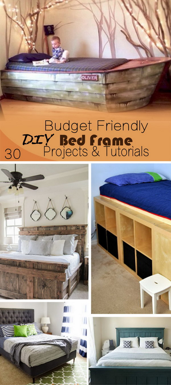 Budget Friendly DIY Bed Frame Projects & Tutorials!