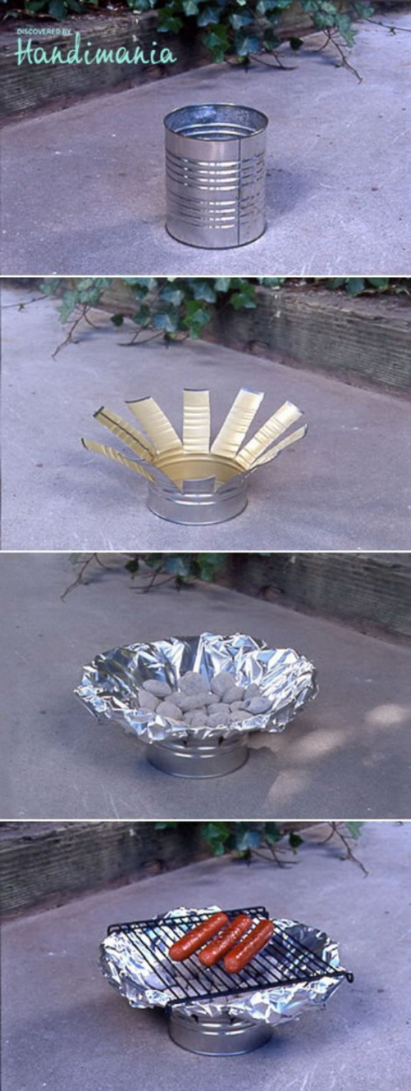 DIY Tin Can Grill. Get the tutorial