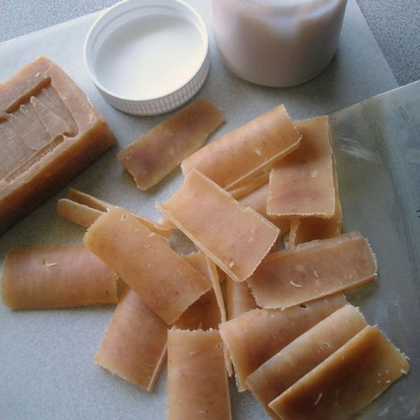 DIY Green Eco Friendly Single use Soap Leaves.  See more