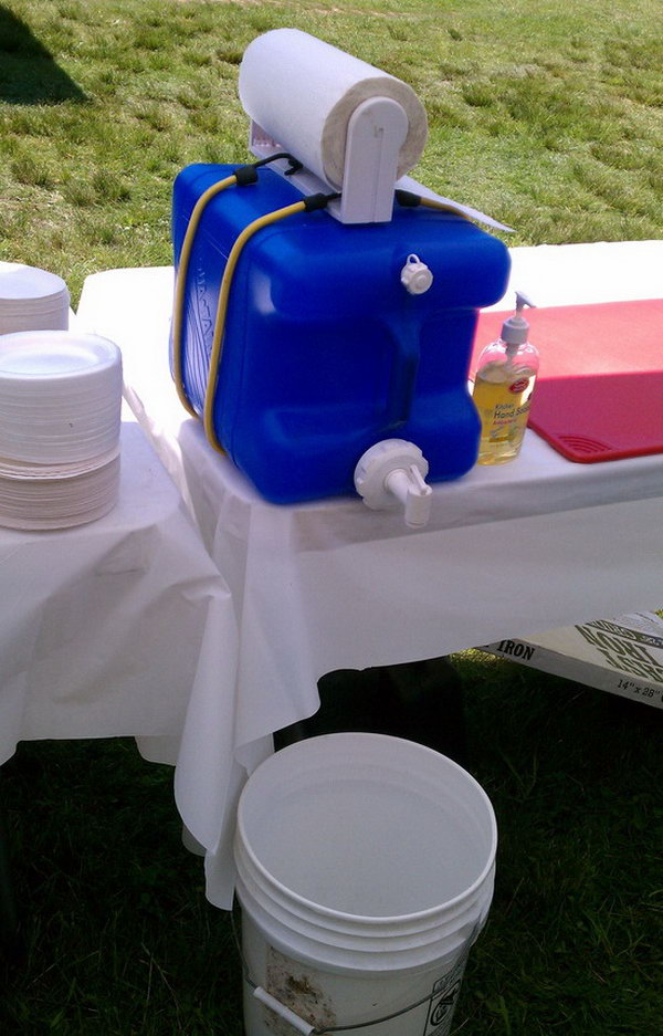 DIY Hand Washing Station. See the instructions