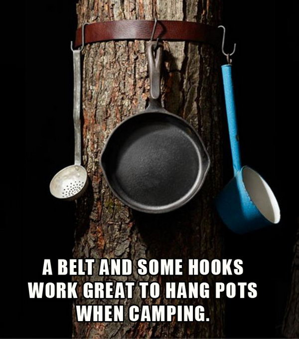 Creative way to Hang Your Pots and Pans.