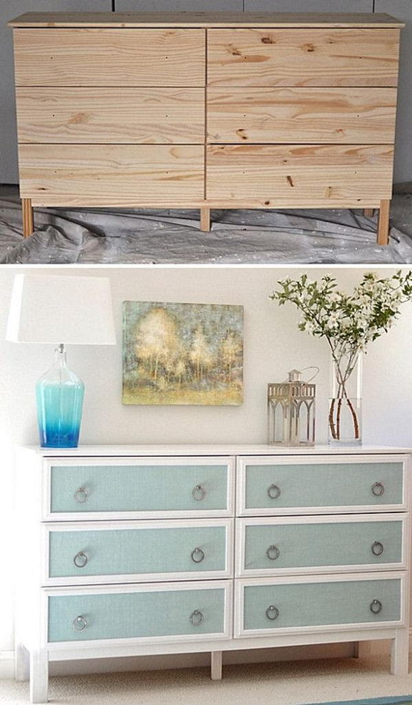 Textured Panel Dresser. See the tutorial