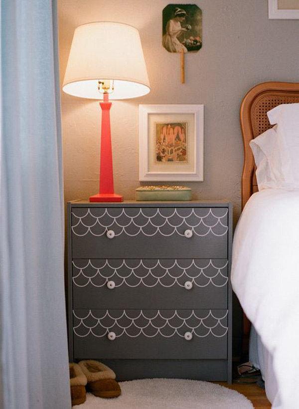 Scallops Stencil Dresser. See more