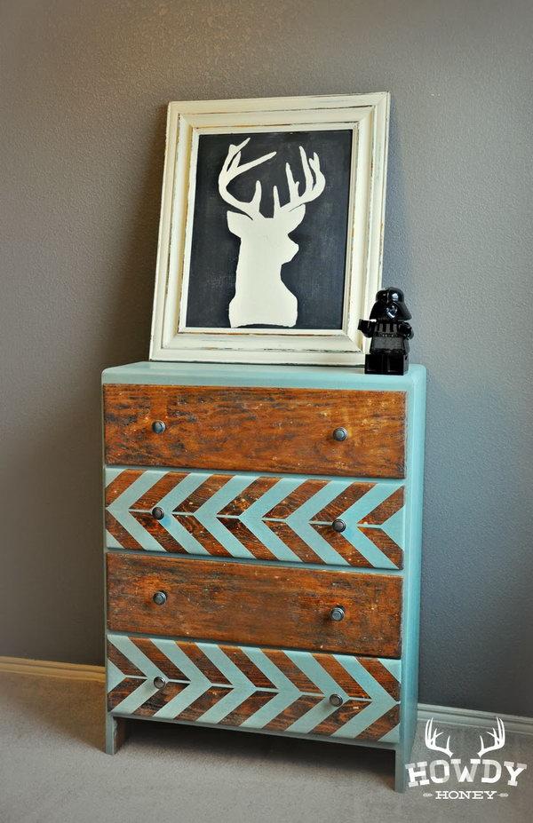 Herringbone Dresser. Get the tutorial