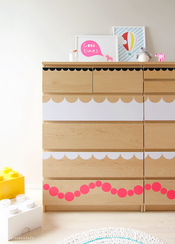 Circle Patterned Dresser. Get the tutorial