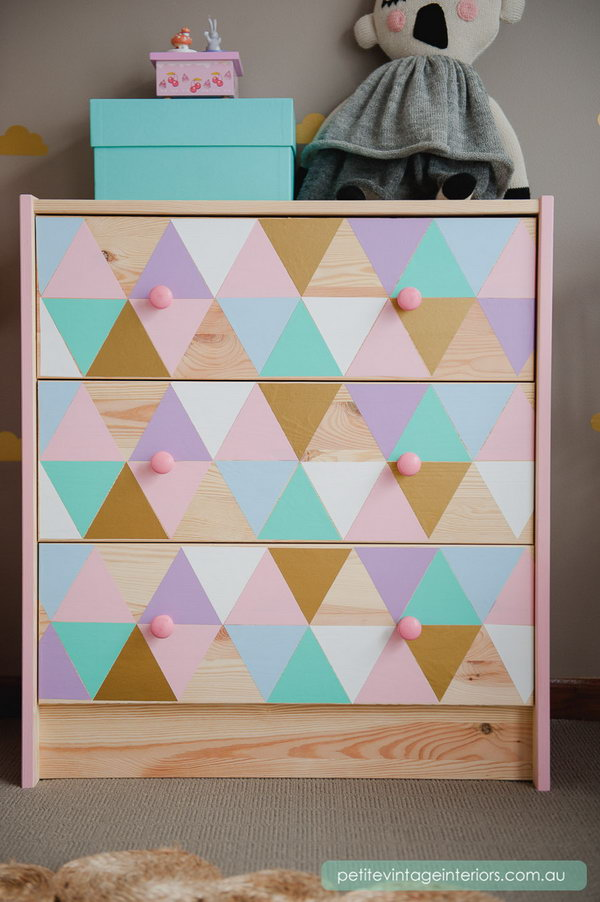 Rainbow Painted Dresser. See more details