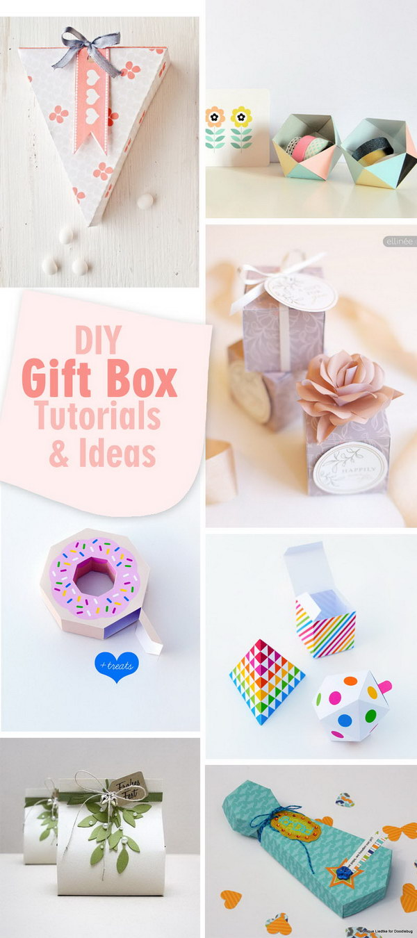 Lots of DIY Gift Box Tutorials and Ideas!