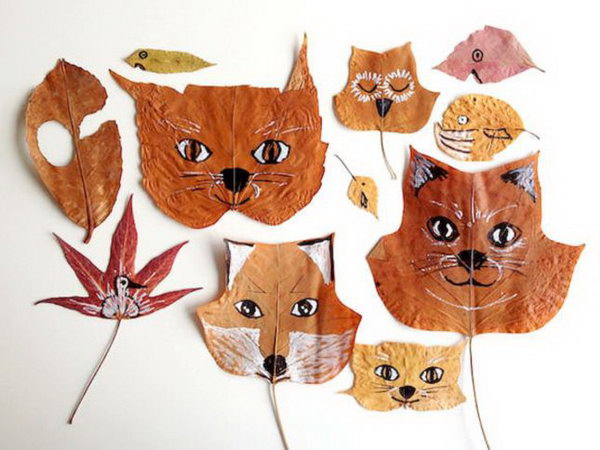 Leaf Animal Crafts. Learn how to make it