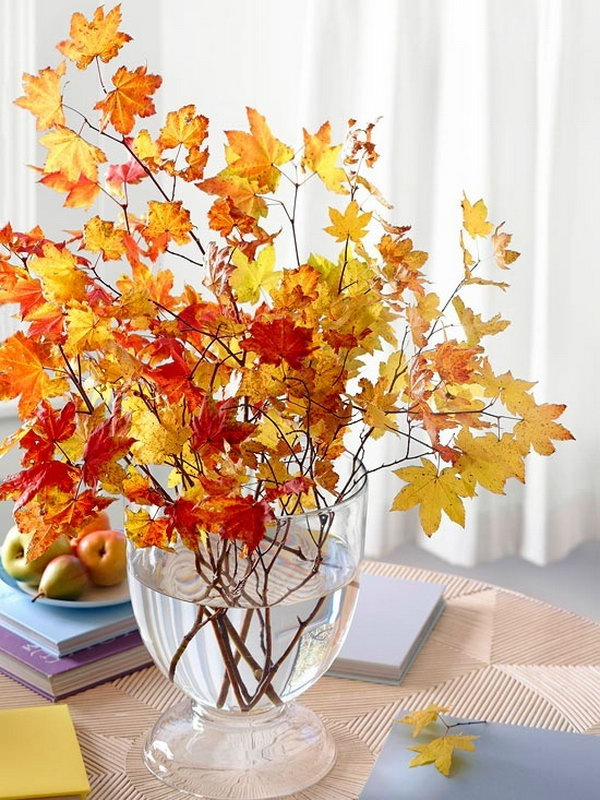Autumn Leaves Vase.