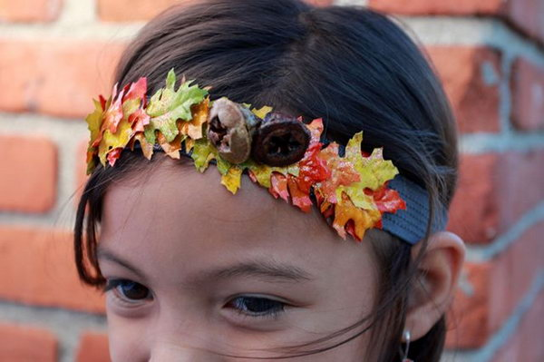 DIY Autumn Headbands. See the steps