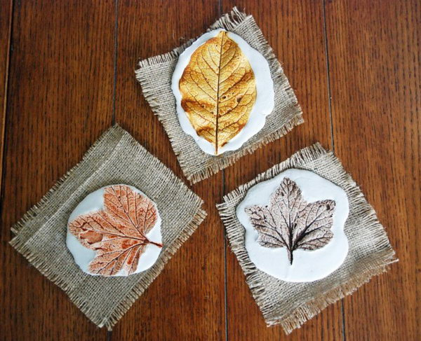 Plaster Leaf Prints. Get the tutorial
