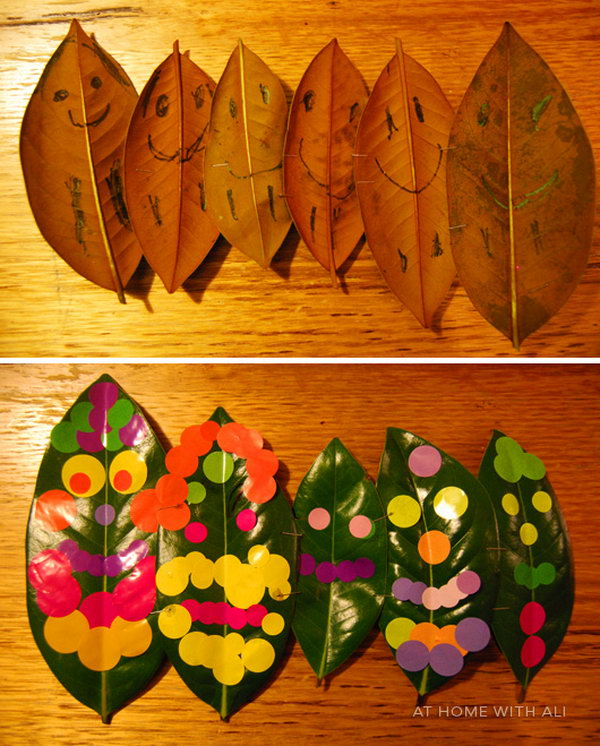 Leaf People Crafts for Kids. Get the tutorial