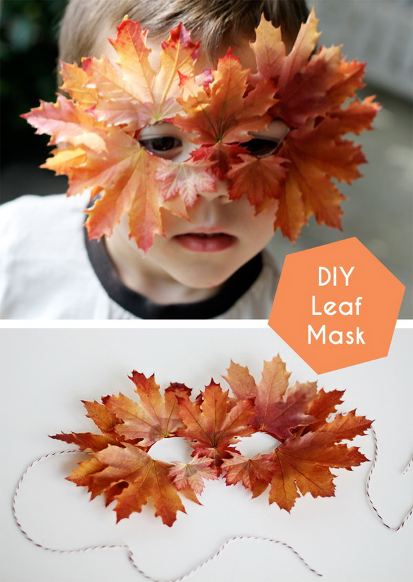 DIY Leaf Mask. Get the tutorial
