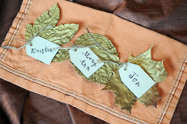 Leaf Place Cards.