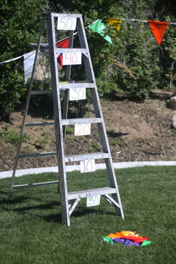 Bean Bag Ladder Toss. Get the tutorial