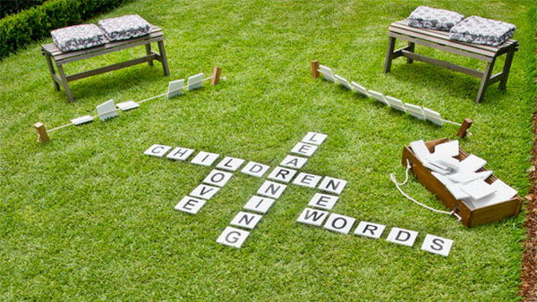 DIY Outdoor Scrabble. This is a great summer learning activity for your kids. You can get the tutorial and learn how to play it