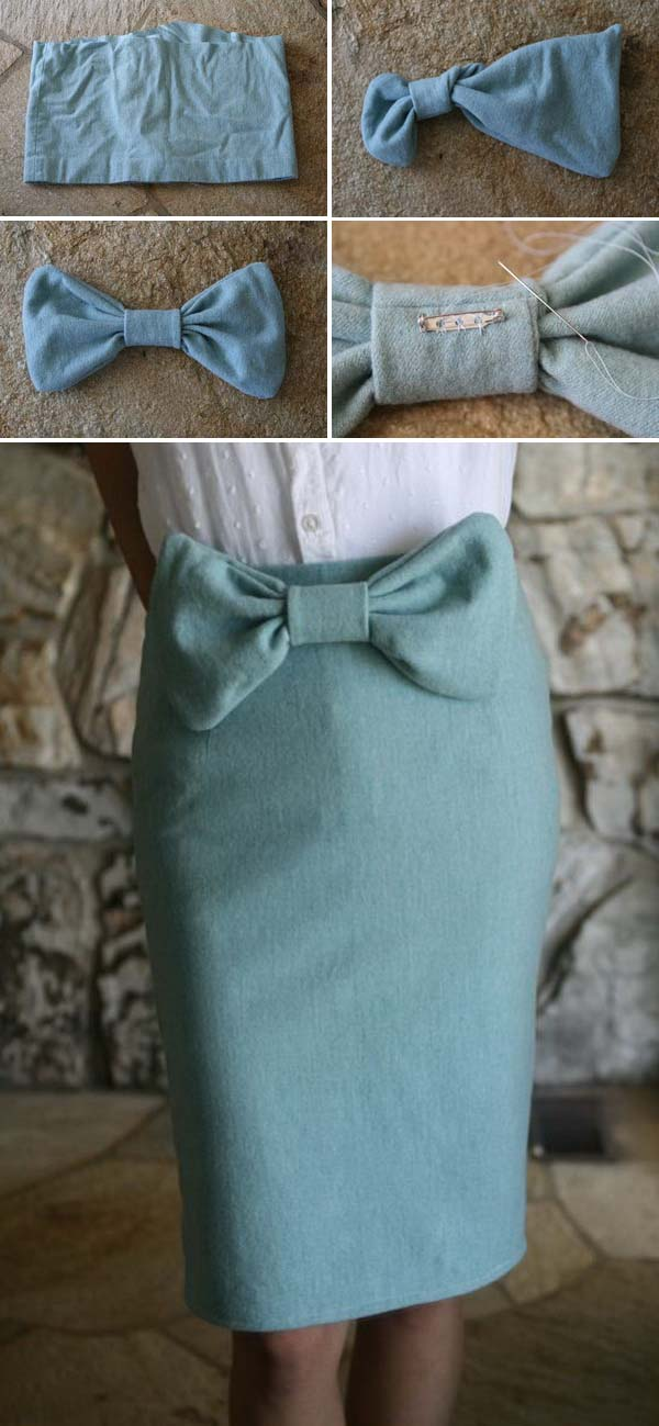 DIY Vintage Bowtie Pencil Skirt. See the directions
