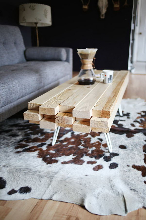 DIY Wooden Coffee Table. Get the full tutorial