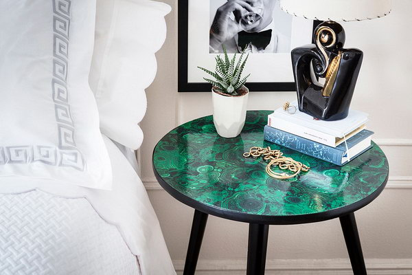 Malachite Tabletop. See how to create it