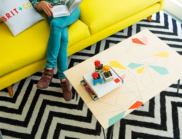 DIY Custom Patterned Coffee Table. Get the full tutorial