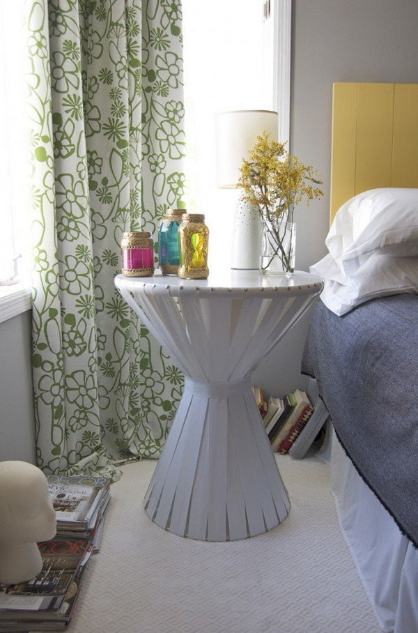 Cardboard Bedside Table. See the full tutorial