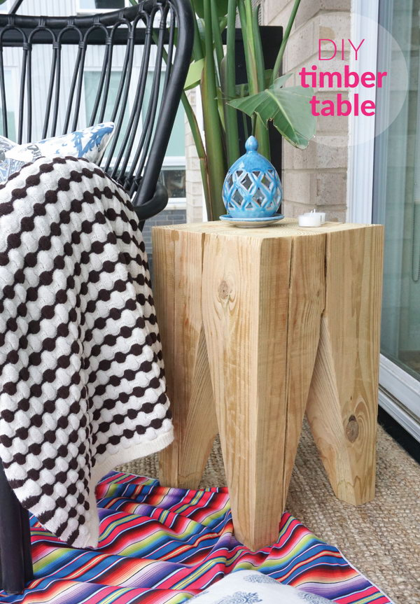 DIY Timber Side Table. Get the directions