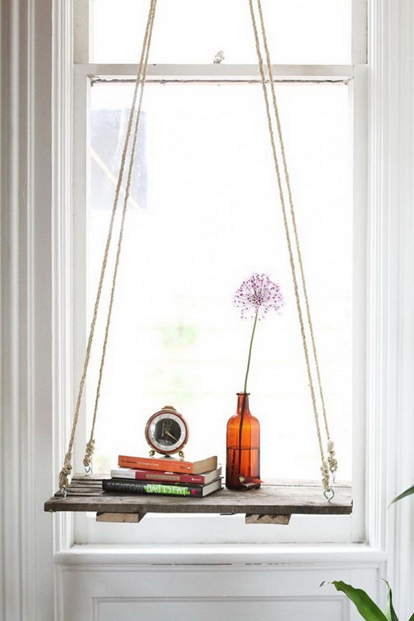 DIY Hanging Side Table. See the directions