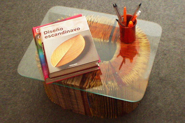 Phone Book Coffee Table. See how