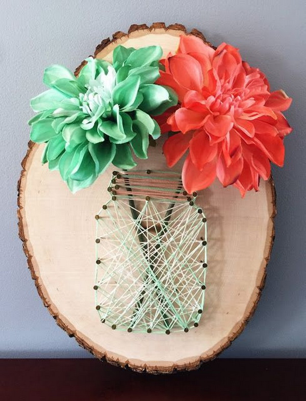 DIY Mason Jar String Art Tutorial